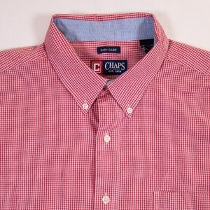 Chaps Button Down Red Check Shirt
